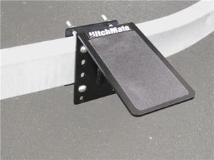 """HitchMate Trailer Step #4036 - Powder coated, 3"""" x 5"""" Steel platform for easy access to boats on trailers"""