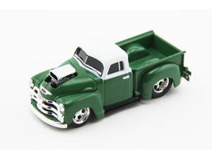 M2 Machines 1954 Chevrolet 3100 Pickup Truck in Ocean Green with White Top