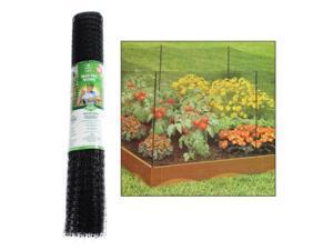 Easy Gardener 3' x 150' Multi-Functional Plastic Netting Barrier Flower Trellis (Black)