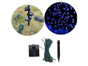 55ft 100 LED Connectable Solar String Fairy Lights Blue w/ AC/DC Adaptor