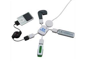 High Speed 4 Ports USB 2.0 Hub Little White Man USB HUB