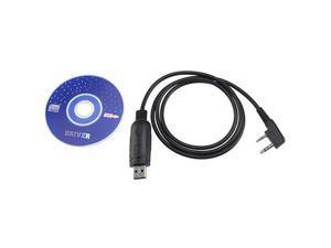 USB Programming Cable for BAOFENG UV-5R UV5R+ UV5RA UV5RE UVB5 UVB6Radio w/ Software