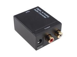 Optical Coax to Analog RCA Audio Converter Adapter Box
