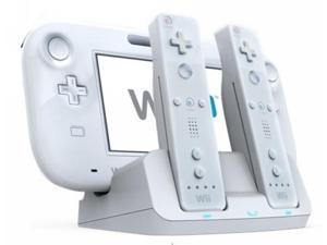 3X Charge Charging Station for Wii U w/ 2 Recharge Battery - White