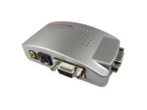 VGA to TV AV Composite RCA S-Video Convertor Box Adaptor for Computer Laptop PC MAC Monitor
