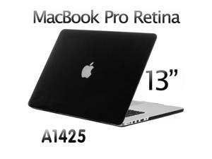 """3in1 Rubberized Hard Case Laptop Shell +Keyboard Skin + Screen Protector for Apple Macbook Pro 13 13.3"""" Retina Display A1425 - Black"""