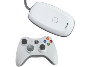 2.4GHz Wireless Remote Controller w/ Wireless Controller PC Windows Gaming Receiver for Xbox 360 - White