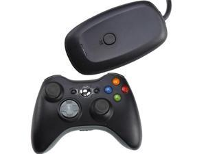 2.4GHz Wireless Remote Controller w/ Wireless Controller PC Windows Gaming Receiver for Xbox 360 - Black