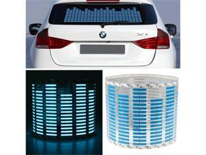 "28""x6"" inch Sound music Activated Sensor Blue LED Light Equalizer Car Stickers"