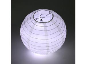 "5X Round White Paper Lanterns 10"" Wedding Party Décor – LED Lights"