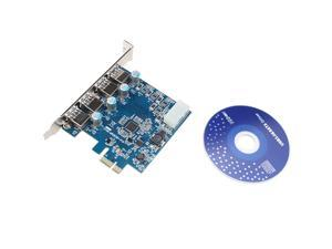 4-Port USB 3.0 PCI-Express PCIe Adapter Controller Card