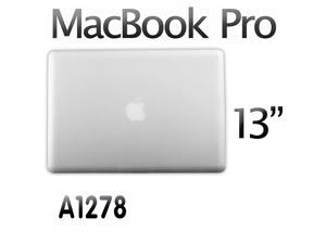 """3in1 Clear Crystal Rubberized Hard Case Laptop Shell for Apple Macbook Pro 13 13.3"""" A1278 +Keyboard Skin + Screen Cover"""