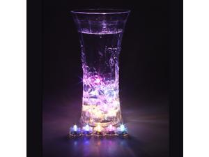 12x LED Submersible Waterproof Wedding Xmas Floral Decoration Tea Vase Battery Light Candles - RGB Color Change