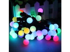 5M 16 feet 50 balls Color Changing LED RGB Ball String Christmas Xmas Lights Belt Light – Multi Color