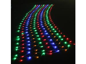 300 LED Net Mesh Fairy linkable String Light Christmas Lights Lighting Party Wedding Xmas Tree-wrap - RGB Multi-color