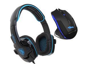 E-3lue E-blue Mazer 2500DPI USB 2.4GHz Wireless Optical Gaming Mouse+Sades Stereo Circumaural Gaming Headset w/ Hidden Microphone