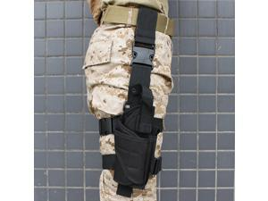 Tactical Army Black Pistol/Gun Drop Leg Thigh Holster