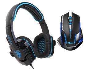 E-Blue Mazer II AVAGO chip 2500 DPI Blue LED 2.4GHz Wireless Optical SA-708 Pro Gaming Mouse+Sades Stereo Circumaural Gaming Headset w/ Hidden Microphone