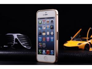 Ultra-thin 0.7mm Aluminum Metal Bumper Case Bezel Frame Luxury Gold for iPhone 5S 5G 5 - Gold, No Screw Needed