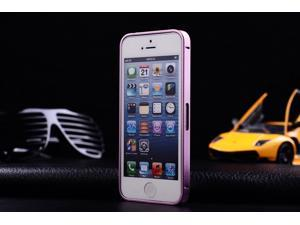 Ultra-thin 0.7mm Aluminum Metal Bumper Case Bezel Frame Luxury Gold for iPhone 5S 5G 5 - Pink, No Screw Needed