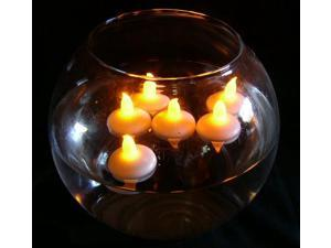 Waterproof LED Floating Flameless Candle for Wedding Party Floral Decoration – Yellow,Pack of 12