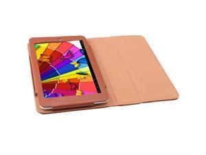 """7"""" Leather Case For AGPtek TP718JQ Tablet Brown"""