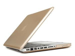 """3in1 Rubberized Hard Case Champagne Gold Laptop Shell + Keyboard Skin + Screen Protector for Apple Macbook Pro 15"""" -inch, 15.4"""" -inch A1286"""