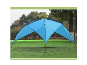 Triangular Design  Sunshade Basecamp Shelter Tripod Beach Shelter Fiberglass Poles Family Sun Shade