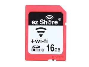 Ez Share WIFI SDHC 16GB Class 10 Wireless Flash Memory SD Card for Camera DV and Wi-Fi Device (iPhone5 5S, iPad, Smart Phones, Tablets, Pad, Laptops)