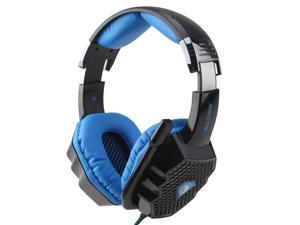 7.1 Sound Effect Glittering Light 6 Color USB Wired Gaming Headset Headphone w/ Microphone Mic for Desktop PC, Laptop