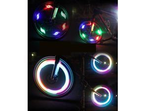 New Multi-color 6pcs Flexible Waterproof Silicone Bike Light Bicycle Cycling Spoke Wire Tire Tyre Silicone LED Wheel