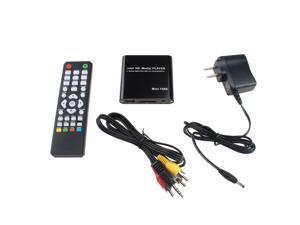 AGPTEK 1080P Mini Full HD Digital Media Player-MKV/RM-SD/USB HDD-HDMI_Black
