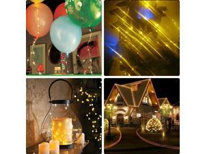 50 String individual LED Wire Lights 5M/16.5FT AA Battery Operated Waterproof Ultra Thin Copper Wire Light Starry Light for Christmas Wedding Halloween Decoration Party _Warm White