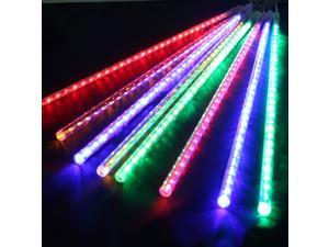 19.6 inch 8 Tube 144 LEDs Meteor Shower Rain Lights Waterproof String Light for Wedding Party Halloween Christmas Xmas Decoration Tree – Multi-color