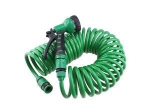 32ft EVA Garden Hose Household Washing Tube Garden Irrigation Pipe Drip Irrigation Tube with Spray Nozzle for Car Washing Gardening Flower Watering