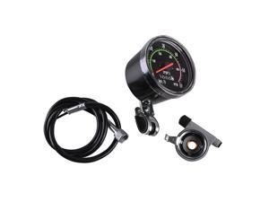 1 Set Analog Speedometer Resettable odometer Classic Style Speedometer Kit for Exercycle & Bike