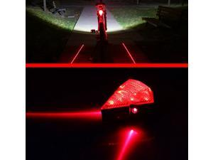 8 LED Rear Diamond Cycling Laser Bike Lamp Bicycle Accessories USB Rechargeable with Power Adapter