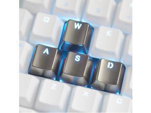Keyset Zinc Transparent WASD 4 Key Caps MX Keycap for Metal Mechanical Keyboard