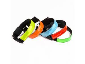 AGPtek 5x LED Flashing Safety Reflective Belt Strap Snap Wrap Arm Band Shine Armband for Running Outdoor Sports Party Concert Promotion Cycling