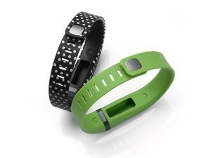 AGPtek Black/White Dots Spots band and Lime Band Large Size Replacement Band for Fitbit Flex Bracelet with Clasp No Tracker