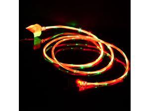 Visible Light Dual Color LED Micro USB Charging Data Sync Cable for HTC Samsung Galaxy S3 S4 Android PhoneTablet