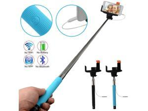 AGPtek Extendable Wired Remote Shutter Handheld Selfie Stick Monopod with Mirror for iPhone 6S 6 5S 5 4 Samsung Note 4 3 2 S5 S4 S3