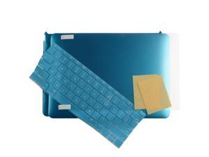 "3in1 Hard Case Laptop Shell +Keyboard Skin + Screen Protector for Apple the New Macbook 12"" [2015 Release] Metallic Blue"