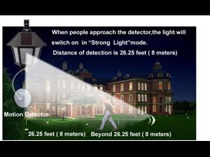 [New Generation] AGPTEK® Solar LED Light Solar Power Infrared Motion Sensor Light with Two Smart ModesFor Garden, Pool Pond Patio, Deck, Yard, Garden, Home