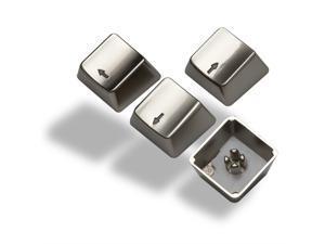 Keyset Zinc Transparent Up Down Left Right 4 Key Caps MX Keycap for Metal Mechanical Keyboard