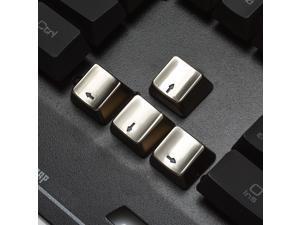 New Keyset Zinc Transparent Up Down Left Right 4 Key Caps MX Keycap for Metal Mechanical Keyboard