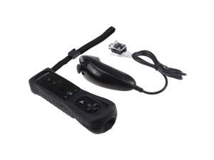 Remote (Built-in MotionPlus)  Nunchuck Controller for Wii - White/Black
