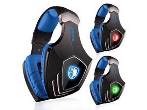 SADES A60 7.1 Surround Stereo Vibration Pro Gaming Music Over-ear Headset Headphone USB For PC Laptop