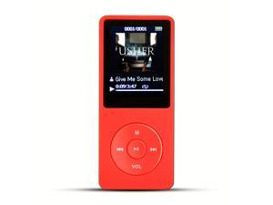 AGPtek Mp3 Player 2015 Latest Version 8GB  (Supports up to 64GB) & 70 Hours Playback MP3 Lossless Sound Music Player, Color Red