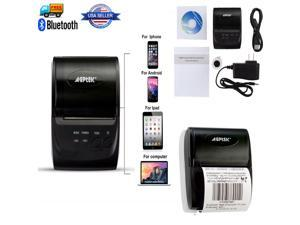 AGPtek Portable Wireless Thermal Printer High-speed 58mm POS Wireless Portable Receipt Thermal Printer Rechargeable ...